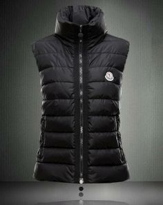 b17391f5beaa 2013 Moncler Chic Stand Collar Down Vests Black  2900515  - £157.99    Moncler