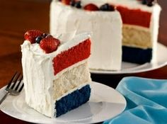 4th of July Wedding Theme Inspiration! Megs yummy cake she made would be pretty like this:)