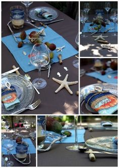 Diy on pinterest tips masking tape and transformers - Deco table bord de mer ...