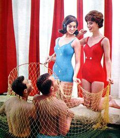 Seventeen April 1961 Maurice Handler Swimsuit ad