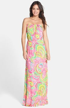 #LillyPullitzer Marlisa Print Maxi Dress available at #Nordstrom