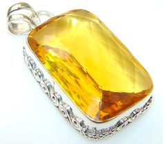 Quartz Sterling Silver Pendant weight 24.60g by SilverRushStyle