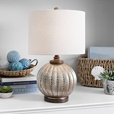 Bring classy chic style to your home lighting with our Gold Mercury Glass Rounded Table Lamp. You'll love the way it's gold mercury glass finish shines. Kirkland Home Decor, Unique Table Lamps, Home Themes, I Love Lamp, Modern Farmhouse Decor, Gold Glass, Affordable Home Decor, Glass Table, Home Lighting