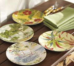 Tropical Motif (melamine) Plates that look like the real thing!