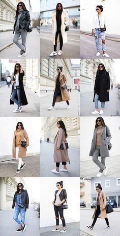 Maje Coat (cheaper alternatives here and here) New Balance 574 Sneakers Whistles Rollneck Sweater (similar here, here, and here) Topshop 'Leigh' Skinny Jeans T by Alexander Wang Silk and Satin Triangl