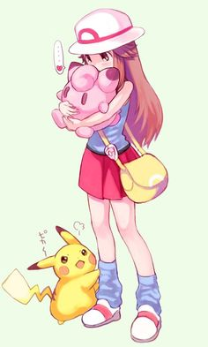Pokémon - Blue, 025 Pikachu and 039 Jigglypuff art by Amezawa Koma (Sankaku Channel)