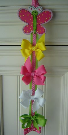 FREE Butterfly Hair Bow Holder w/Pastel Hair Bow by bowtowne