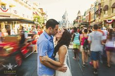 Sara + Dave / Magic Kingdom Engagement Shoot » Concept Photography