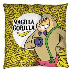 Magilla Gorilla Send Him More Bananas Throw Pillow