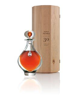 AU RA crystal decanter and oak case