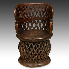 African Furniture, Peacock Chair, Throne Chair, Vintage Wood, African Art, Side Chairs, Landscape Design, Primitive, Spider