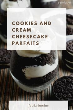 Cookies and Cream Cheesecake Parfaits Healthy Meals For One, Healthy Recipes On A Budget, Healthy Breakfast Recipes, Snack Recipes, Easy Meals, Chocolate Chip Recipes, Chocolate Chips, Cookies And Cream Cheesecake, Instant Recipes