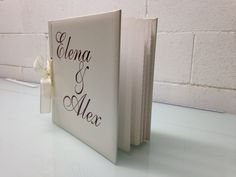 Rotulación libro de firmas para boda