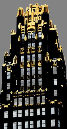 Art Deco Architecture in New York - Bryant Park Hotel.    Bryant Park Hotel, 40th Street between Fifth and Sixth Avenues