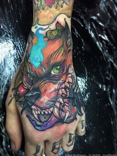 Watercolor tattoo Felipe Rodrigues cachorro