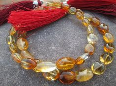 Full strand, AAA Fine Quality Citrine quartz Smooth Oval Shape Briolettes Gemstine beads, 100% Natural,At Factory Price, (ITEM ID: E-1894) by JaiVyavsayBeads on Etsy