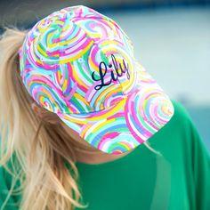 Summer Sorbet Monogrammed Cap Girls Baseball Hats 07bd6f8330e3