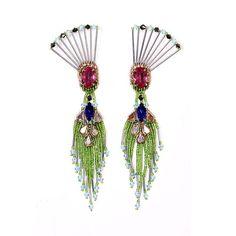THE DANCING PEACOCK earrings.