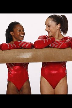 Gabby and Jordyn. I love how there was not animosity between them, even though they were competing for the same title at one point.