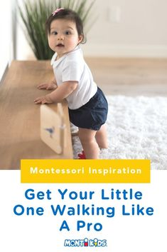 Learning to walk is a big milestone for baby! With these tips you can help encourage your little one to walk like a pro. - Kids education and learning acts Montessori Activities, Infant Activities, Montessori Baby, Radio Flyer Wagons, Baby Boy Swag, Physical Development, Developmental Toys, Programming For Kids, Baby Learning
