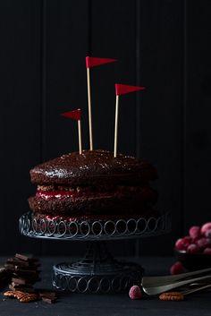 ♂ Still Life Food Styling food photography Dark chocolate Devil's Food Cake