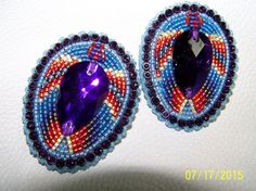 Purple and Blue makes   Navajo Made by NavajoRainbowDesigns