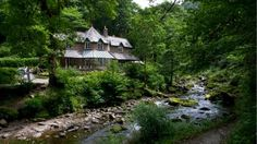 Watersmeet House, Chapel tea room, Lynmouth. National Trust of England.