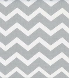 Keepsake Calico Fabric- Gray & White Chevron