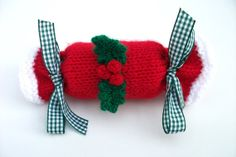 Christmas cracker hand knitted medium  size by madmumknits on Etsy, £4.00