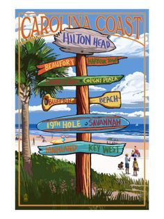 Hilton Head, South Carolina - Destination Signs