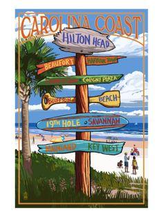 Hilton Head, South Carolina - Destination Signs