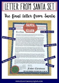 personalised letter from santa modern version by ellaydesignco