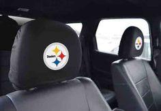 Picture of Pittsburgh Steelers Headrest Cover Set of Two Pittsburgh Steelers, Dan Rooney, Rod Woodson, Chuck Noll, Greg Lloyd, Jack Lambert, City Super, Troy Polamalu, Steel Curtain