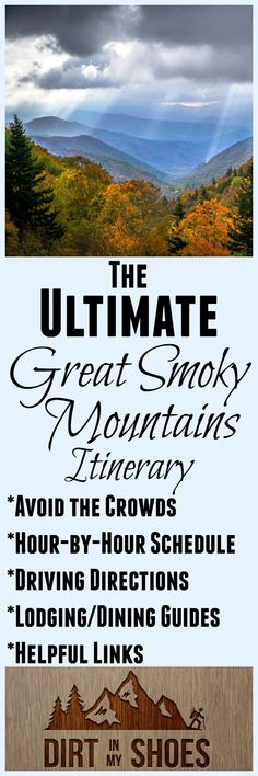 Enjoy an amazing trip to Great Smoky Mountains National Park with this guide by a former park ranger! The secret hike was AWESOME and we had such an incredible time! Great Smoky Mountains, Gatlinburg Vacation, Tennessee Vacation, Gatlinburg Tennessee, Mountain Vacations, Family Vacations, Family Travel, Equador, Smoky Mountain National Park