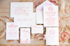 Paper Details: Elegant summer wedding in the south of France — Feast Fine Art & Calligraphy