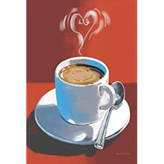 Toland Home Garden  Smiling Heart Coffee 28 x 40-Inch Decorative USA-Produced House Flag