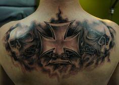 Iron cross skullz by strangeris
