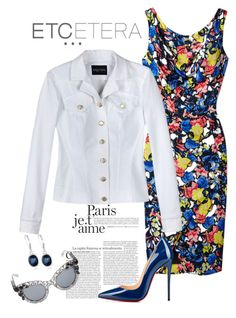 """""""Etcetera Spring 2015: Bianca Jean Jacket with the Flora Dress"""" by timirac on Polyvore featuring Etcetera, Christian Louboutin, Dolce&Gabbana, Anne Klein, women's clothing, women's fashion, women, female, woman and misses"""