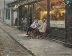 "Bill Farnsworth- North America (1958) ""Dusk and Rose"" Oil ~ 16 x 20"