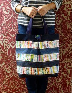 Repurposed denim & selvedge bag | by Just Jude Designs