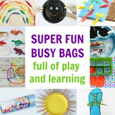 The best busy bags for learning and fun! Beat boredom and keep kids happy with these low prep busy bags preschool kids love. Creative Activities For Kids, Educational Activities For Kids, Educational Crafts, Creative Kids, Preschool Activities, Motor Activities, Preschool At Home, Toddler Preschool, Busy Bags