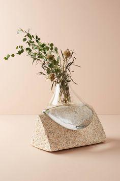 Glass & Stone Vase | Anthropologie