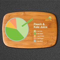 Peach & Kale Juice #juiceoftheday #7dayjuicepal