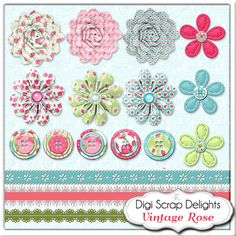 50% OFF TODAY Vintage Rose Digital Scrapbook by DigiScrapDelights