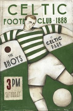 Celtic F. is a Scottish football club based in Glasgow. The club was established in and played its first game in Celtic have a long-standing rivalry with Rangers; the two Glasgow clubs are collectively known as the Old Firm. Celtic Club, Celtic Fc, Soccer Art, Soccer Poster, Football Design, Football Soccer, Football Firms, Rugby, Old Firm