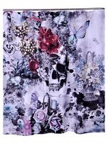 """Bathroom Polyester Fabric Printed Butterfly Skull Flower Shower Curtains Liner Waterproof Washable Curtains 72*72"""" 12Hooks(China (Mainland))"""