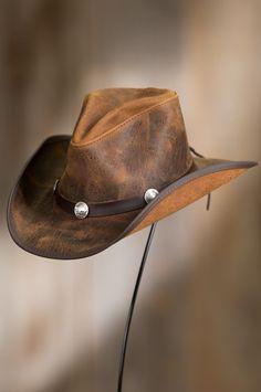 5230db3b14bf1 Cyclone Leather Cowboy Hat with Buffalo Nickels