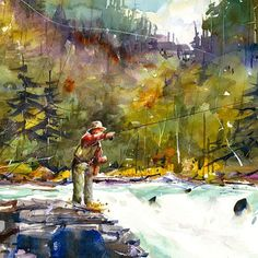 CLASSIC FLYFISHING Print from Original Watercolor                                                                                                                                                                                 More