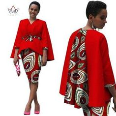 Africa Style Women African Clothing/ 2 Piece Set Dress Suit for Women Tops Jacke. - Africa Style Women African Clothing/ 2 Piece Set Dress Suit for Women Tops Jacket and Print Skirt Clothing African Fashion Designers, African Print Fashion, Africa Fashion, African Dashiki, African Wear, African Women, African Attire For Men, African Print Dresses, African Fashion Dresses