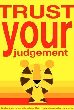 Trust your judgement 12x18 Art Print by Giraffes and Robots by GIRAFFESandROBOTS on Etsy